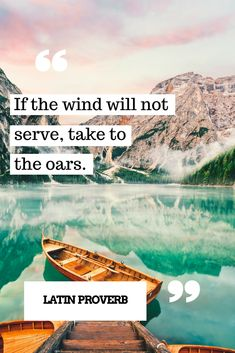 If the wind will not serve, take to the oars! #quote