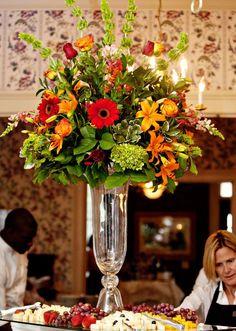Clear Reversible Trumpet Glass Floral Vase Centerpiece