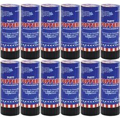 Star Spangled Fourth of July Party Patriotic Confetti Popper Noisemakers... #Amscan
