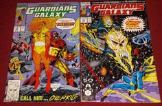 Guardians of The Galaxy Vol. 1 #12 & #13 Marvel 1991 Ghost Rider Comic Books Lot