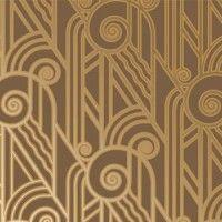 Wallpaper is back in vogue. Art deco pattern.
