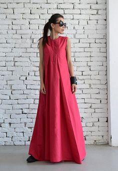OFF Pink Maxi Dress / Loose Long Dress / Casual Daywear Dress / Plus Size Summer Dress / Elegant Pink Dress /Pink Occasion Dress by META by Metamorphoza Plus Size Summer Dresses, Dress Plus Size, Trendy Dresses, Elegant Dresses, Casual Dresses, Fashion Dresses, Short Dresses, Ankara Fashion, Pink Occasion Dresses