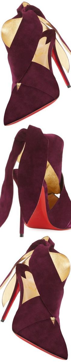 Christian Louboutin Ramour Suede Red Sole Pump