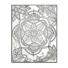 Stupell Kaleidoscope Floral Pond DIY Coloring Wall Plaque