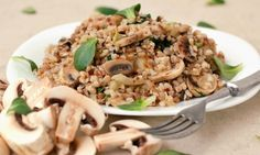 Pohanka na žampiónech Quinoa, I Love Food, Risotto, Grains, Healthy Recipes, Healthy Food, Gluten Free, Ethnic Recipes, Diet