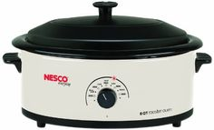"Since 1932 the Nesco brand name has been synonymous with Roaster Ovens. With a Nesco Roaster Oven you can roast, bake, cook, steam, slow cook and serve. The Roaster Oven is portable so you can make great tasting meals wherever you go. The exclusive ""Circle of Heat"" heating element... - http://kitchen-dining.bestselleroutlet.net/product-review-for-nesco-4816-14-roaster-oven-with-porcelain-cookwell-6-quart-white/"