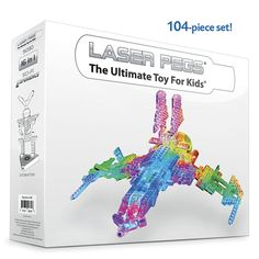 Laser Pegs 104pc Space Adventure Set - Educational Toys, Specialty Toys and Games - Creative, Award Winning for Science, Math and More   Young Explorers