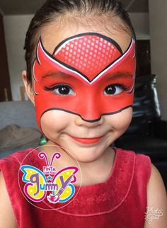 pj superheros  bemalte gesichter halloween schminken