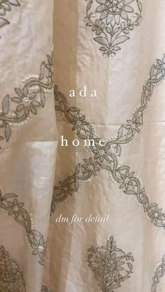 Ada showcases Chikankari Collection for Home Decor. Shop with us for #chikankaribedsheets, #tablelinen #curtains #cushioncovers and more from our Home Decor Collection. Kindly ping us on WhatsApp +91-8795160153 for more details #Ada #Adachikan #chikankari #handcrafted #homedecor #chikankaricollection #chikankaricurtain #chikankari #bedsheet #curtains #cushioncover #embellishment #muqaish #tussersilk #silk #cotton #indianart #traditionalcraft #handcraft #handembroidered #chikan #lucknowi