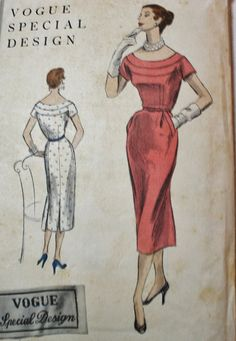 Sewing Pattern Vogue Special Design 1950s by BluetreeSewingStudio, $55.00