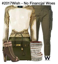 """""""#2017Wish"""" by wearwhatyouwatch ❤ liked on Polyvore featuring Dsquared2, Jean-Paul Gaultier, Bijoux de Famille, Hermès and Luichiny"""
