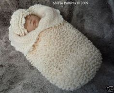 Baby Cocoon, reminds me of old bunting bags. Adorable!