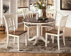 Whitesburg 5-Piece Round Table Set by Signature Design by Ashley & How to Refinish a Table | Pinterest | Minwax Weather and Kitchens