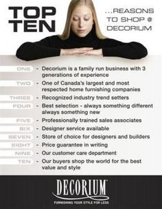 Top 10 Reasons to Shop at Decorium - Home & Construction - Small Business List, The Neighbourhood, Construction, Decor Ideas, Shopping, Building, The Neighborhood