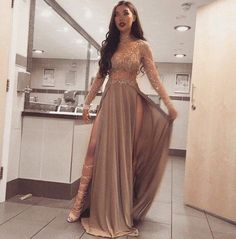 Long Sleeves Sparkly Stunning High Neck Split Sexy Cheap Modest Prom dress  by olesaweddingdresses, $140.20 USD Ball Dresses, Prom Dresses, Prom Outfits, Long Dresses, Cheap Dresses, Formal Dresses, Mermaid Evening Dresses, Types Of Dresses, Casual Summer Dresses