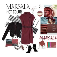 Dress up with Marsala by farka-id on Polyvore featuring GUESS, Emilio Pucci and White House Black Market