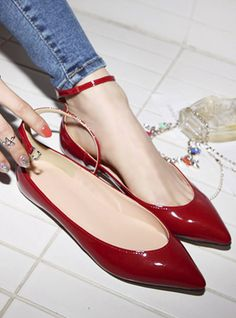 $34 2013 spring new stylenanda candy-colored patent leather flat shoes -ZZKKO WOMEN'S FLATS http://amzn.to/2jETOMx