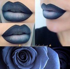 """Muted"" Midnight Blue Lips"
