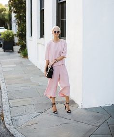 Blush pink Culottes and matching top