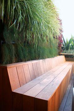 garden seat vertical garden Peter-Fudge - Bob's Gardening