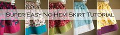 easy skirt tutorial for little girls