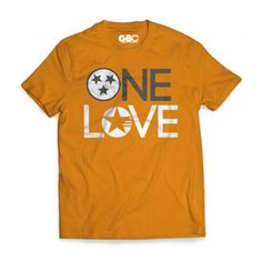 The One Love Tennessee T-shirt is now available for purchase online at www.gboapparel.com #Onelove #GBO #VFL #Knoxville #Rockytop #Tennessee #Tennesseegear
