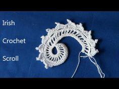 ▶ Irish Crochet Basics, a Scroll - YouTube