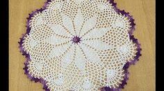Tuto napperon coeur au crochet - YouTube