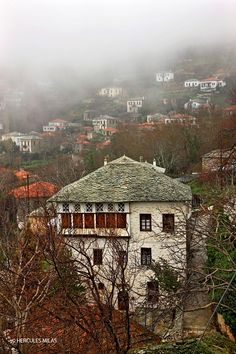 """""""Traditional architecture of Pelion mountain"""" by Hercules Milas Beautiful Islands, Beautiful Places, Places In Greece, Thessaloniki, Grand Tour, Greece Travel, Historical Sites, Scenery, Places To Visit"""
