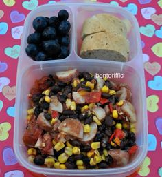 Black beans potatoes and corn lunch | packed in @EasyLunchboxes containers