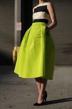 Atlantic-Pacific layered Kate Spade dress with Tibi skirt sooo incredibly chic