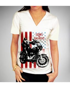 Sons of Anarchy 'Jax America Bike' V-neck Junior Fitted Tee