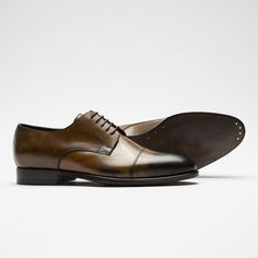 The classic derby shoes make a handsome completion to any refined getup. Crafted from premium Abrasivato leather - one of the world's finest for elegant footwear. The hand-brushed treatment of the. Brogues, Loafers, Brown Derby, Derby Shoes, Gentleman, Men's Shoes, Oxford Shoes, Handsome, Lace Up