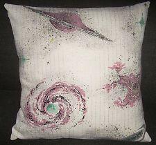 "Atomic Pillow Cover Barkcloth Space Age ""Jupiter"" Mid Century Mad Sputnik Eames"