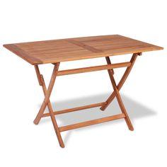 vidaXL Outdoor Dining Table Rectangular Teak Garden Patio Furniture 2 Sizes