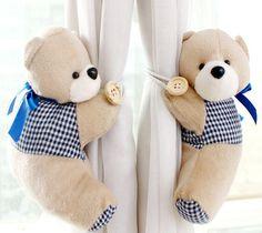 Curtains Strap lovely Cartoon Bear curtain's clip buckle Tieback Home Decoration