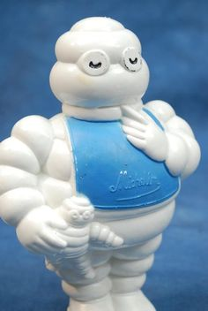 Vintage BIBendum Michelin Man - Rubber Advertising Squeeze Squeaky Toy Figure #Michelin
