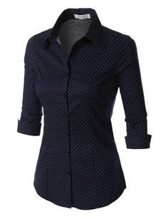 Love the tailored look of this shirt! Button downs are for me. Whatever the occasion is, this polka dots button down sleeve tailored shirt will be a perfect fit. This comfortable wash-and-wear shirt is indispensable for the workday. Stitch Fix Outfits, Casual Outfits, Cute Outfits, Fashion Outfits, Womens Fashion, Polka Dot Shirt, Polka Dots, Tailored Shirts, Work Shirts