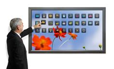 """The Philips BDL6545AT 65"""" interactive touchscreen. http://www.transparent-uk.com/philips-bdl6545at.html"""