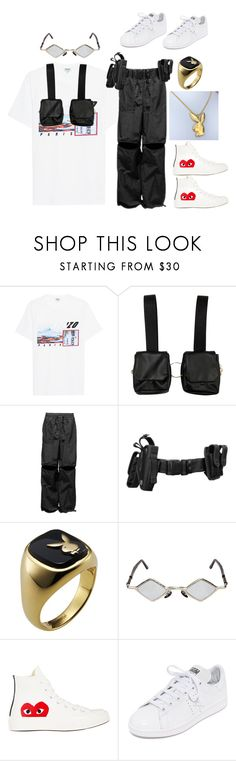 """""""Untitled #46"""" by leyirsamoht on Polyvore featuring Kenzo, Kuboraum, Comme des Garçons, adidas, men's fashion and menswear"""