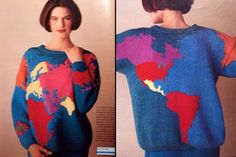 Map of the world sweater pattern $6.00