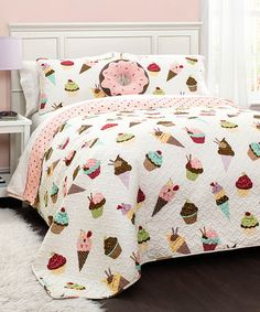 Look at this #zulilyfind! Cupcake Ice Cream Quilt Set #zulilyfinds