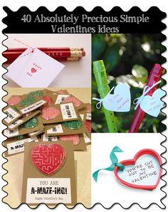 40 Absolutely Precious Simple Valentines Ideas - StuckAtHomeMom.com
