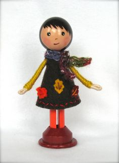 Fall clothespin doll 2012 by janpugs, via Flickr