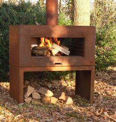 Outdoor Wood Burner, Outdoor Oven, Outdoor Life, Outdoor Living, Outdoor Decor, Outdoor Ideas, Large Terracotta Planters, Rustic Fireplaces, Outdoor Fireplaces