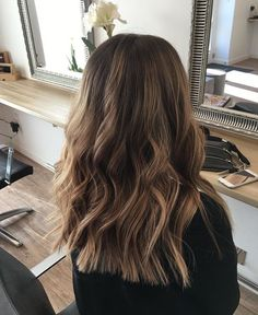 Side Swept Waves for Ash Blonde Hair - 50 Light Brown Hair Color Ideas with Highlights and Lowlights - The Trending Hairstyle Brown Hair Balayage, Brown Ombre Hair, Brown Blonde Hair, Light Brown Hair, Ombre Hair Color, Hair Color Balayage, Brown Hair Colors, Hair Highlights, Golden Highlights