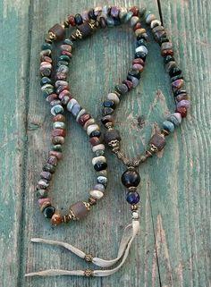 Hey, I found this really awesome Etsy listing at https://www.etsy.com/ru/listing/226084585/beautiful-jasper-gemstone-mala-necklace