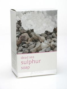 Dead Sea Sulphur Soap 4.4 Oz. by Jericho. $8.25. Helps Heal Skin Problems:. from the Dead Sea. Psoriasis:. Eczema:. with Dead Sea mineral and plant extracts. Enriched with Dead Sea minerals and sulphur, Jericho Sulphur soap is known for its healing proper ties to skin problems, such as Psoriasis and Eczema. Contains Olive Oil and Aloe Vera that balance the skin natural moisture.