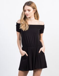 ba8044519c3 When you need a romper that you can wear all the time. This black Off