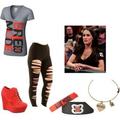 A fashion look from November 2014 featuring cotton leggings, wedge shoes and v neck t shirts. Browse and shop related looks. Wwe Halloween Costume, Wwe Costumes, Halloween Ideas, Wwe Outfits, Fashion Outfits, Brie Bella Wwe, Bella Diva, Surf Tattoo, Wwe Girls
